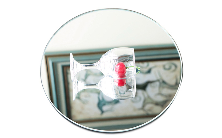 Round edging safety mirror shatterproof mirror
