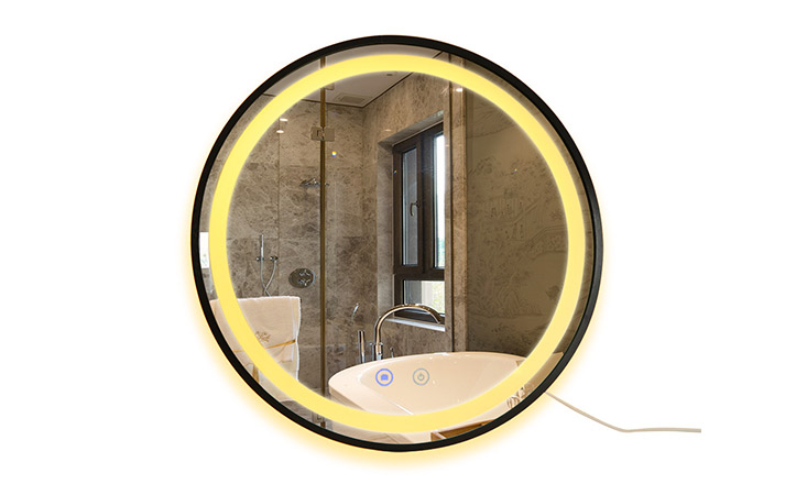 wall mounted round bathroom vanity led mirrors