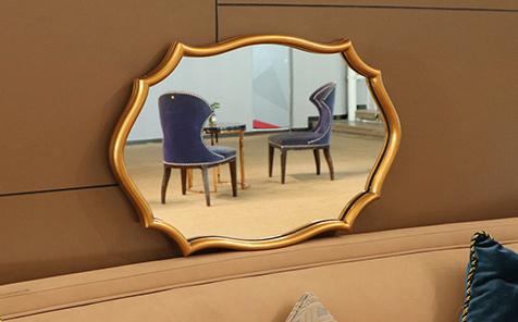 wholesale irregular shape framed mirror