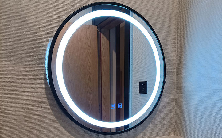 led mirror round bathroom mirror with light