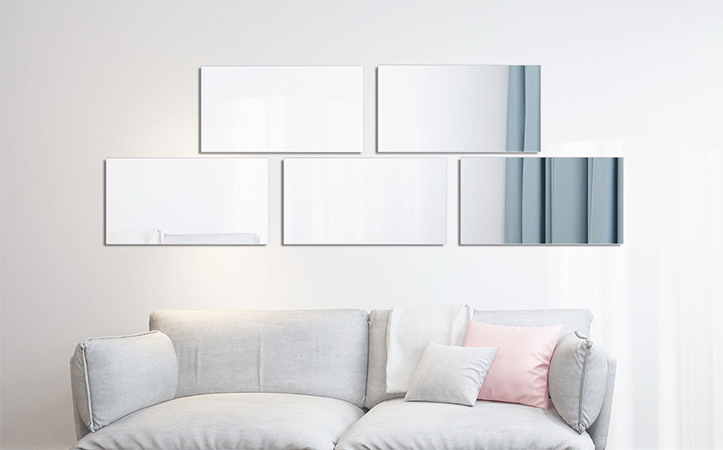 decoration wall mirror rectangle mirror silver mirror (Accept customization)