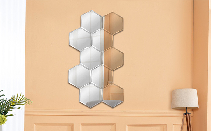 frameless collage mirror for decoration (Accept customization)