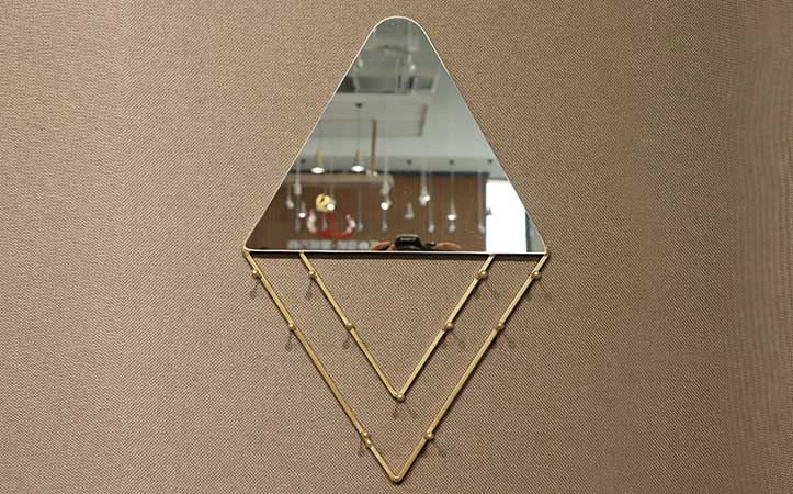 custom size metal gold framed mirror